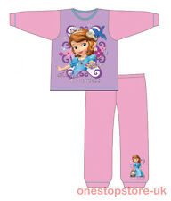 Girls Disney Princess Sofia The First Long Length Pyjamas Pjs Age 18 M - 5 Years