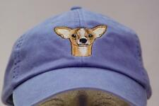 CHIHUAHUA WOMEN MEN SOLID COLOR DOG BASEBALL CAP - Price Embroidery Canine Hat