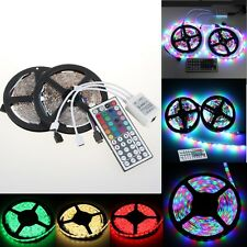 10M 5050 SMD RGB 600LEDS FLEXIBLE STRIP LIGHT +24/44 KEY IR REMOTE CONTROLLER