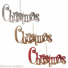 17cm Merry Christmas Party Hanging Glitter Wall Door Sign Decoration