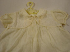 Vintage Baby Dress Dotted Swiss Delicate Yellow