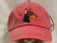 DOBERMAN PINSCHER WOMEN MEN SOLID COLOR DOG BASEBALL HAT - Price Embroidery Cap