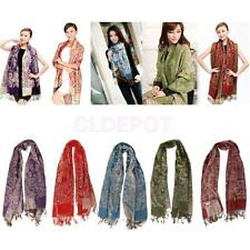 "1pc Women Ladies Winter Scarf Large Wrap Pashmina Shawl Stole 76.77"" Long 5Color"