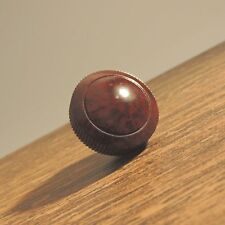 Vintage Bakelite PHILCO Radio Knob 1940-50's Brown marble color used Original