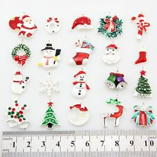 Lot Mix Silver XMAS Christmas tree snowflake cap reindeer Pendants Charms Y58