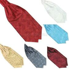 Ascot Tie Cravat Mens Neck Tie Satin Scarf Self Tie Wedding Scarf Multicolor L87