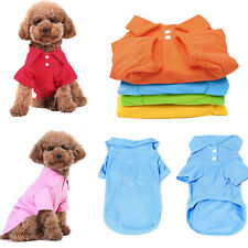 Hot Lovely Puppy Apparel Cute Small Dog Cat Pet Clothes Costume POLO T-Shirt
