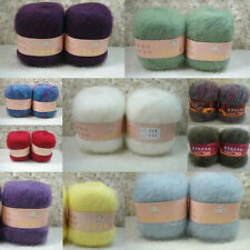 Quality Wholesale 1pc Natural Angola Mohair Cashmere Wool Knitting Yarn Home RD