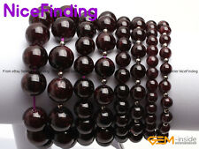 Natural Round Garnet Beaded Stretchy Adjustable Bracelets Fashion Jewelry Gifts