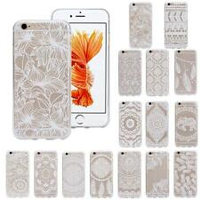 Stylish Pattern Transparent TPU Case Cover Skin For Iphone 6S 4.7 Inch Soft Case