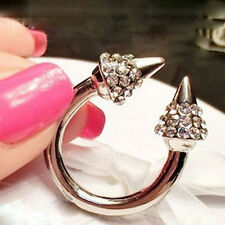 Spike Rivet Ring Cubic Rock Punk Fashion Jewelry Armour Finger Ring Xmas Gift