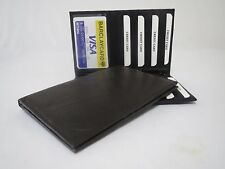 Genuine Leather Black Long Bifold ID Credit Card Money Holder Wallet Organizer.
