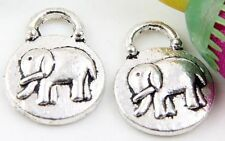 Wholesale 14/31Pcs Tibetan Silver Elephant  Charms 19x15x3mm(Lead-free)