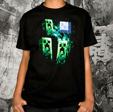 OFFICIAL Minecraft - Three Creeper Moon YOUTH T-shirt NEW LICENSED Kids Merch AL
