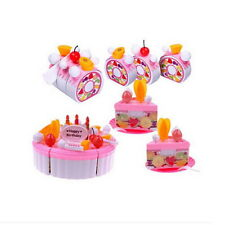Birthday Decoration Cake Set Pretend Play Kids Kitchen Play Food Fruit Toy XG