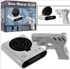 Lock N' Load Gun Alarm Target Shooting Clock Novelty Gift Laser Lcd Panel INAL