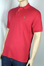 Ralph Lauren Red Interlock Polo Shirt Green Pony NWT