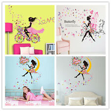 New Girl Flower Removable Wall Art Sticker Vinyl Decal DIY Room Home Mural Decor