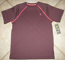 NWT Boys Old Navy SS Active Maroon Athletic Shirt M(8)-L(10-12)-XL(14-16)