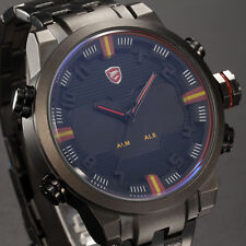 Sawback Angel SHARK LED Digital Date Day Alarm Quartz Army Wrist Sport Men Watch