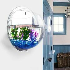 Wall-mounted Acrylic Fish Tank Bubble Aquarium Plant Pot Modern Home Decor W0O0