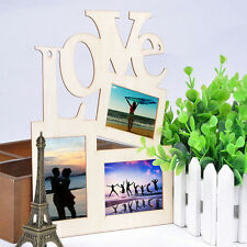 New Durable Hollow Love Wooden Photo Picture Frame Rahmen DIY Home Decor RD