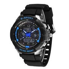 Fashion Backlight Waterproof Sport Digital Analog Date Alarm Wrist Watch Men