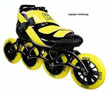 Vanilla Spyder Yellow Inline Speed Skates