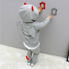 Baby Boy Girls Kid Clothes Long Sleeve BAT Outerwear Hoodie Jacket Tops+Pants