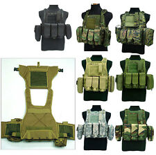 Military Molle Hydration Bag Water Reservoir Camo Airsoft Tactical Combat Vest