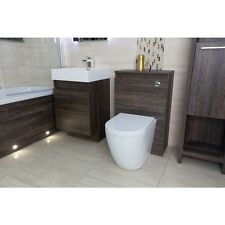 Craven Semi Wall Hung Vanity Unit and Basin , WC Unit Dark Oak,Basin Tap