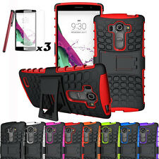 For LG G4 Beat/Vigor G4s Rugged Armor Hybrid Hard Rubber Case Protective Cover