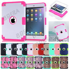 High Impact Soft Rubber Shockproof Hard Combo Cases Cover For iPad mini 1 2 3 4