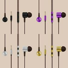 Universal Earphones Headphones Earbuds In-Ear Headset & Mic Remote Wire Control