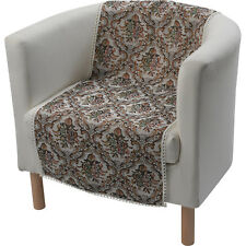 Furniture Chair Protector Floral Tapestry Decorative Lace Trim Sofa Settee Cover
