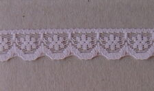 CRAFT-SEWING-LACE 13mm Pink Pretty Flower Design (metre varieties available)
