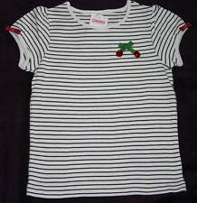 Gymboree CHERRY PIE Short or Long Sleeve Striped Rhinestone Tee Top NWT  5 6