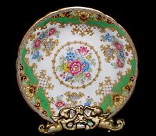 """FABULOUS SHELLEY SHERATON 13290 5 7/8"""" GREEN BREAD AND BUTTER PLATE 9 AVAILABLE"""
