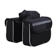 Top Front Tube Saddle Bag Bike Frame Pannier Rack Double Side Bicycle Cycling