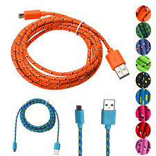3M/10 Feet Long Durable Universal Hemp Rope Micro USB Sync Data Charge Cable NEW