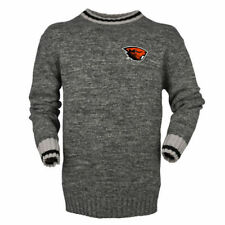 Bruzer Oregon State Beavers Gray Work Sock Crew Neck Sweater - College