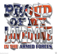 US Military Proud of My Loved One Armed Forces Mens Womens Graphic T-Shirt