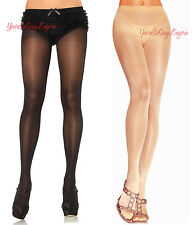 Plus Size OPAQUE Sheer-To-Waist PANTYHOSE Closed COTTON CROTCH 25% Spandex QUEEN