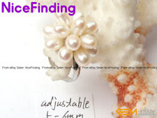 Freshwater Pearl Rings Fashion Jewellery Gold Plated Adjustable Size Women Gift