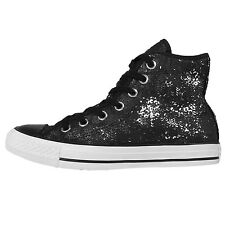Converse Chuck Taylor All Star Black Silver Womens Casual Shoes Sneakers 551552C