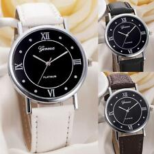 Women Watch Geneva Watch Leather Band Casual Watch Analog Quartz Wrist Watch New