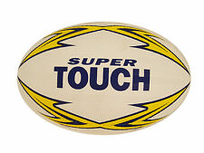 PATRICK SUPER TOUCH RUGBY TOUCH BALL - WHITE / YELLOW - SIZES JUNIOR / FULL SIZE