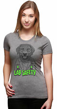 Womens Labrador Lab Safety Hilarious Nerdy Dog Science T shirt for Ladies (Grey)
