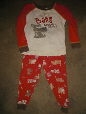 Toddler Boys 2T LS Top & Pant PJ Set I'M THE BOSS AROUND HERE (B51)