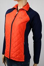 Ralph Lauren Active Orange Navy Blue Fleece Jacket Full Zip NWT $120